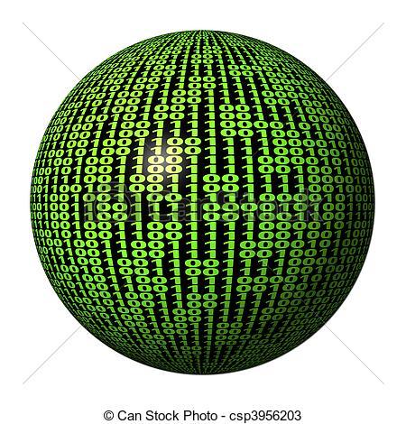 Binary clipart matrix Code csp3956203 code of sphere