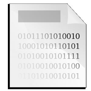 Binary clipart computer file #4