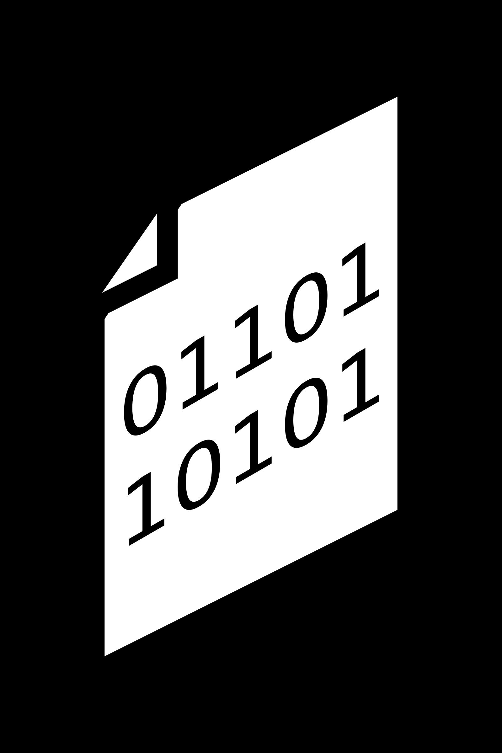 Binary clipart computer file #3