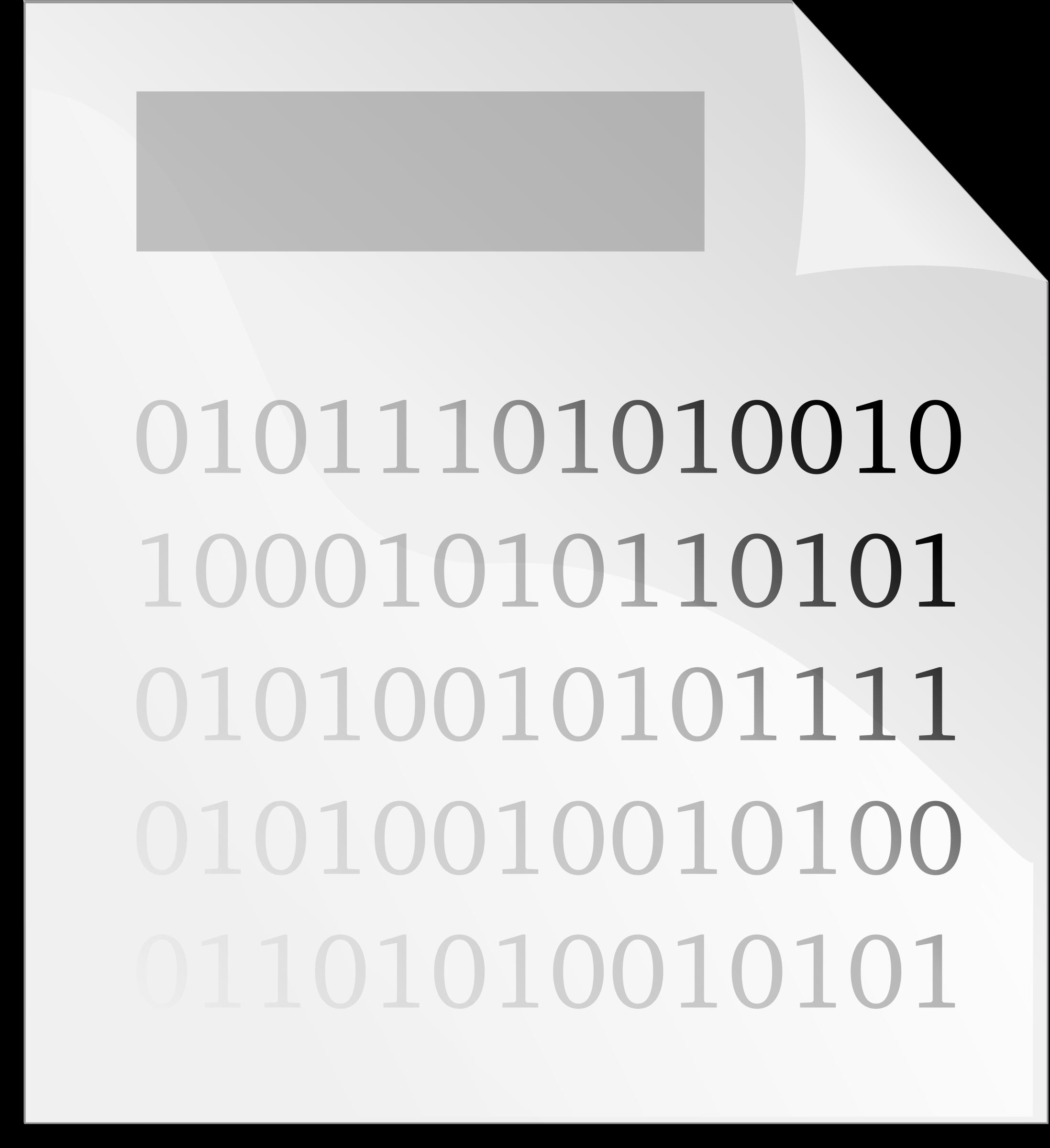 Binary clipart computer file #1