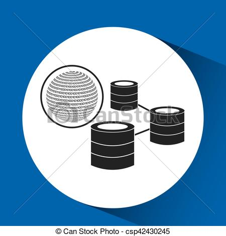 Binary clipart network Of Vector globe EPS data