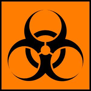 Biohazard clipart Art Orange  vector Clip
