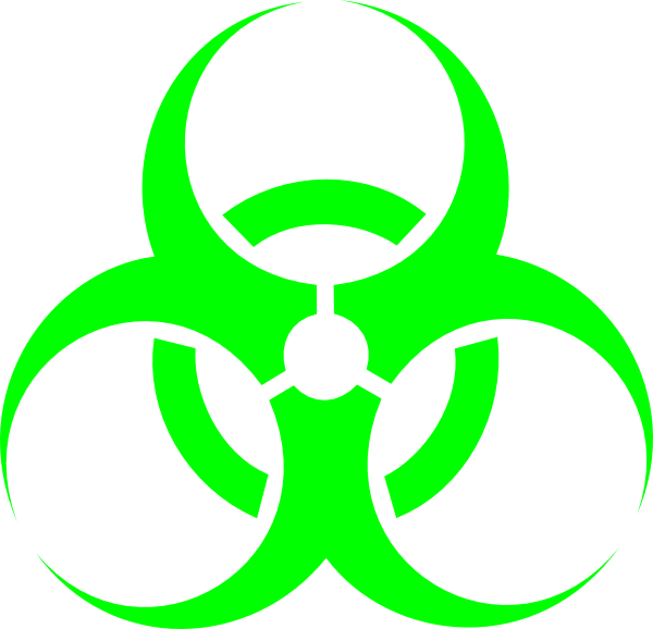Biohazard clipart green Green as: clip Clip at