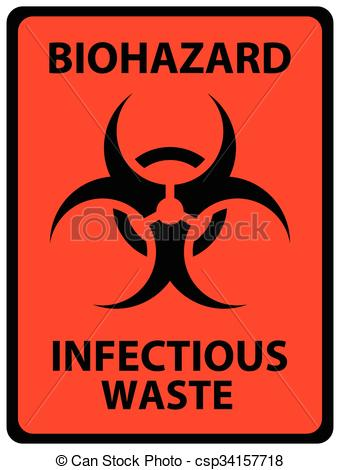 Biohazard clipart safety Infectious on Black Waste Sign