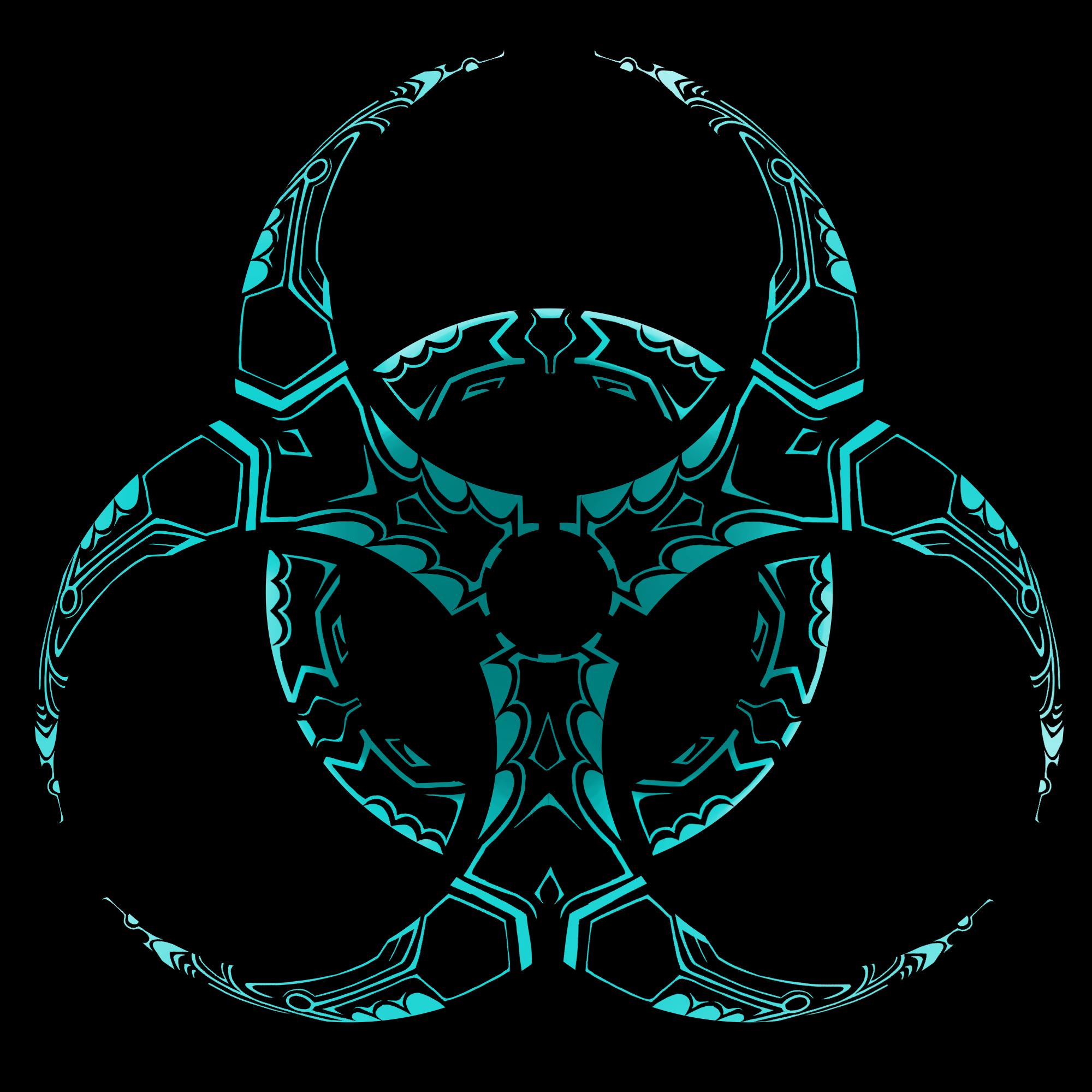 Biohazard clipart tribal Free by Clip Biohazard Download
