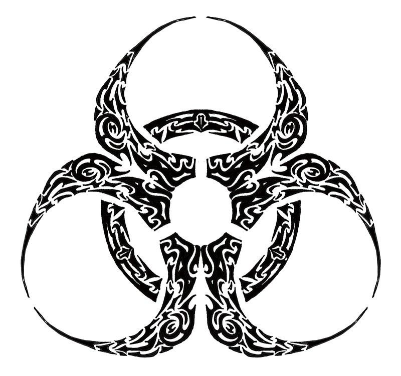 Biohazard clipart tribal Clip by Art Cool Symbols
