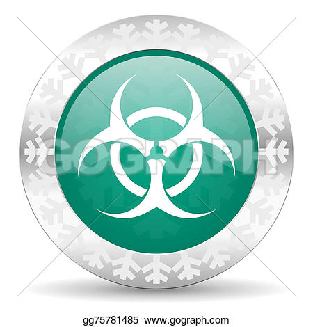 Biohazard clipart green Christmas green Stock button sign