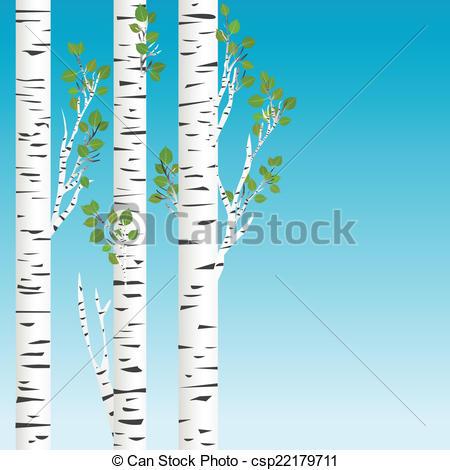 Birch clipart Trees Birch Vector Birch green