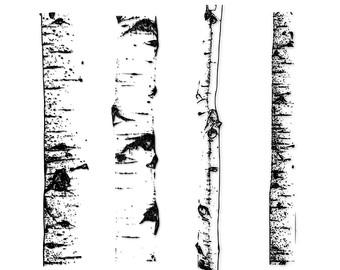 Birch clipart Stamp Art Clipart Tree Art