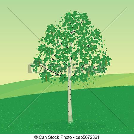 Birch clipart Vertyr5/666; vector landscape Birch a