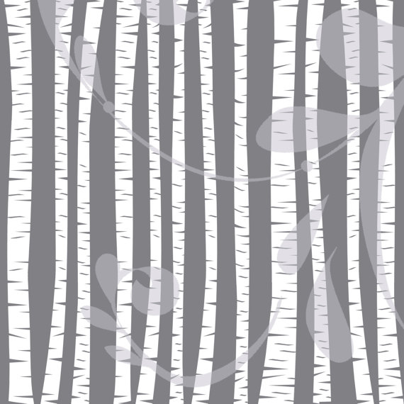 Birch clipart transparent Birch Vector Silhouette Clipart Trees