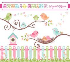 Bird clipart baby shower Elements Clip Digital Use art
