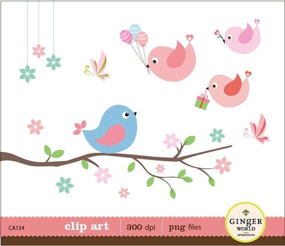 Birthday clipart bird Clip 39 illustration Invitation images