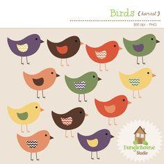 Bird clipart chevron Autumn Clip Colored Clipart Clipart