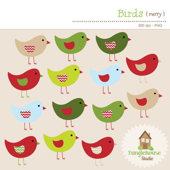 Bird clipart chevron Christmas Bird Holiday clipart Pivot