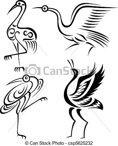 Brds clipart crane Clip illustration illustration bird bird