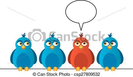 Bird clipart four Sitting birds on of says