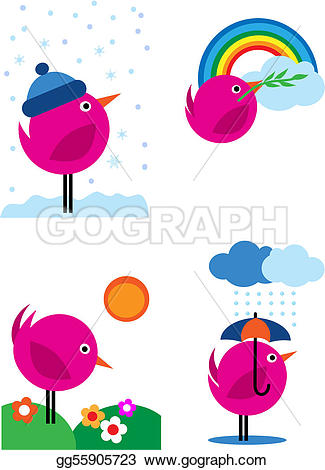 Bird clipart four Four Art icons Vector Drawing