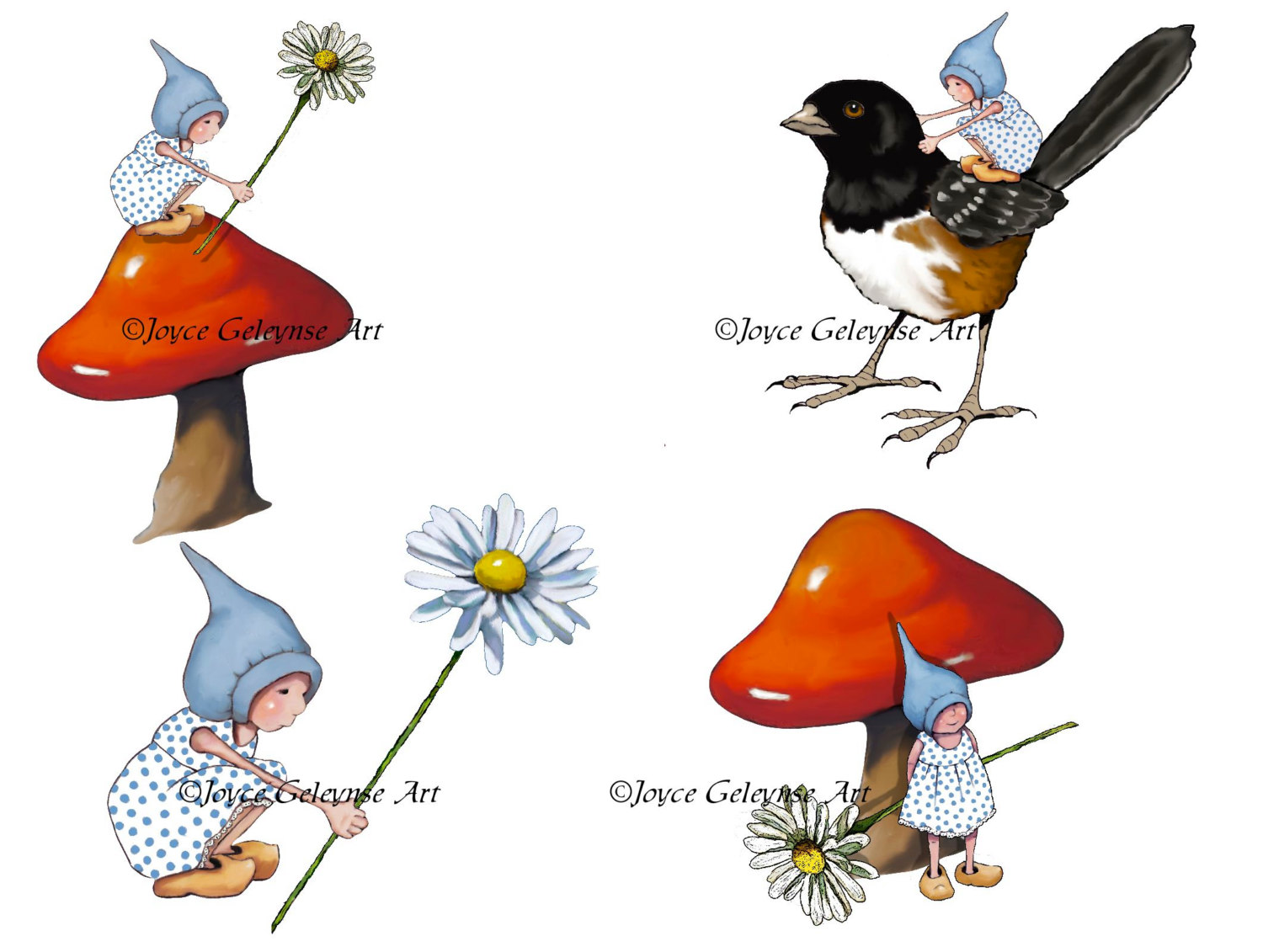 Bird clipart four A is Gnomes Art Gnome