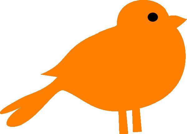 Brds clipart orange Orange Clker online as: Bird