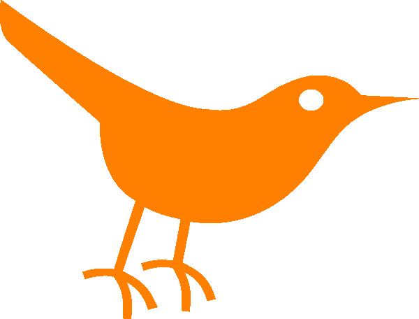 Brds clipart orange Clker online Clker art com