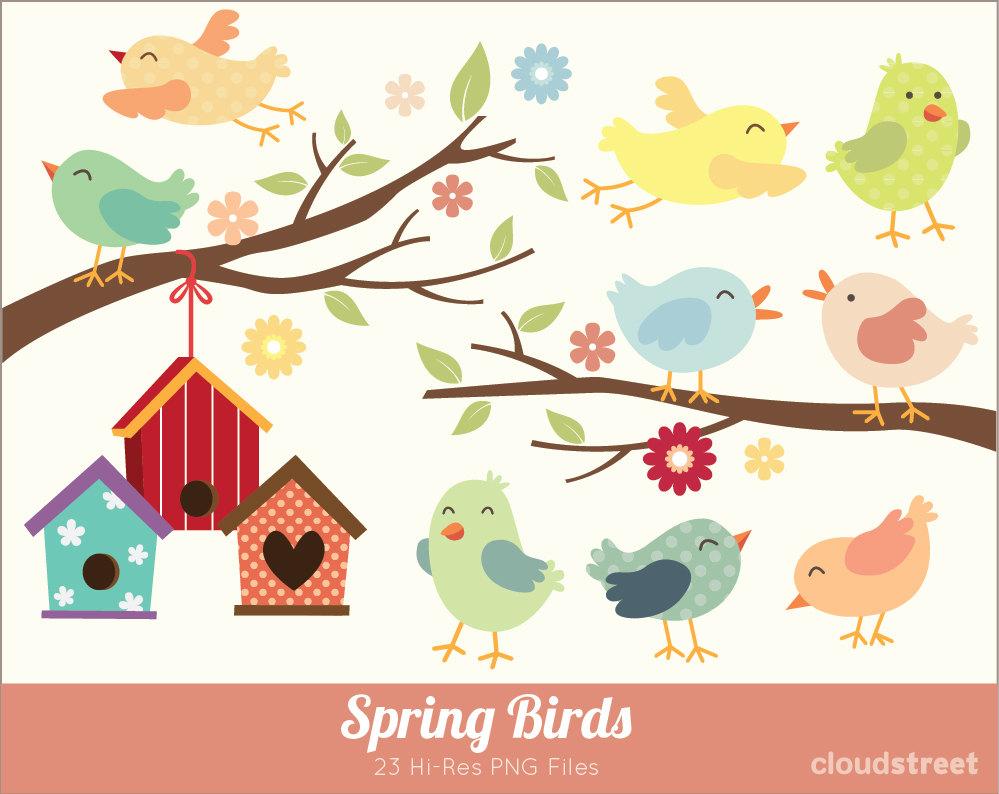 Bird clipart spring flower Birds Spring cloudstreetlab Birds get