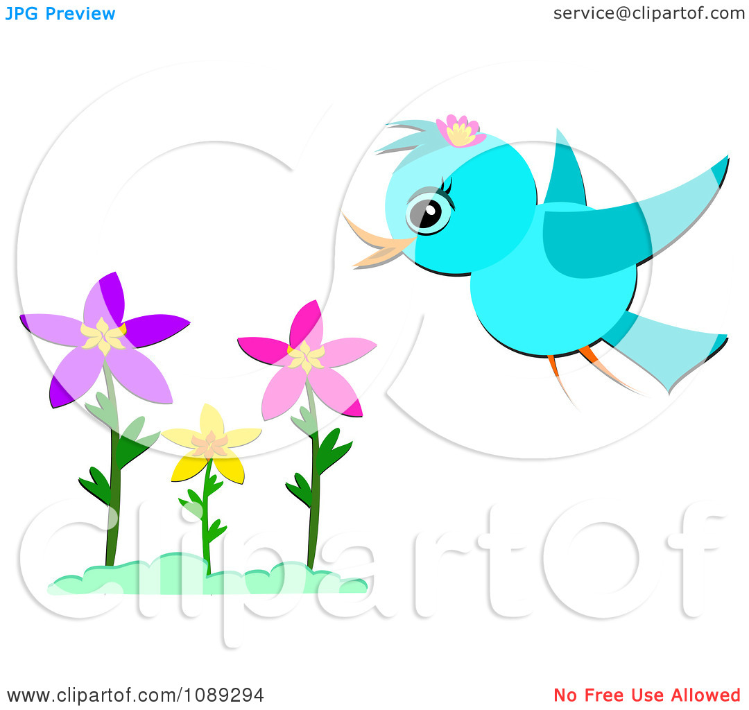 Bird clipart spring flower And Clip Clipart Birds –