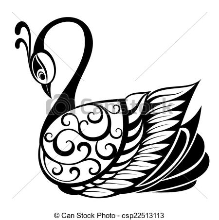 Brds clipart swan Bird Vector symbol Swan