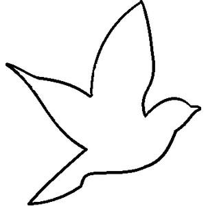 Bird clipart template Clipart Outline photo#16 Bird outline