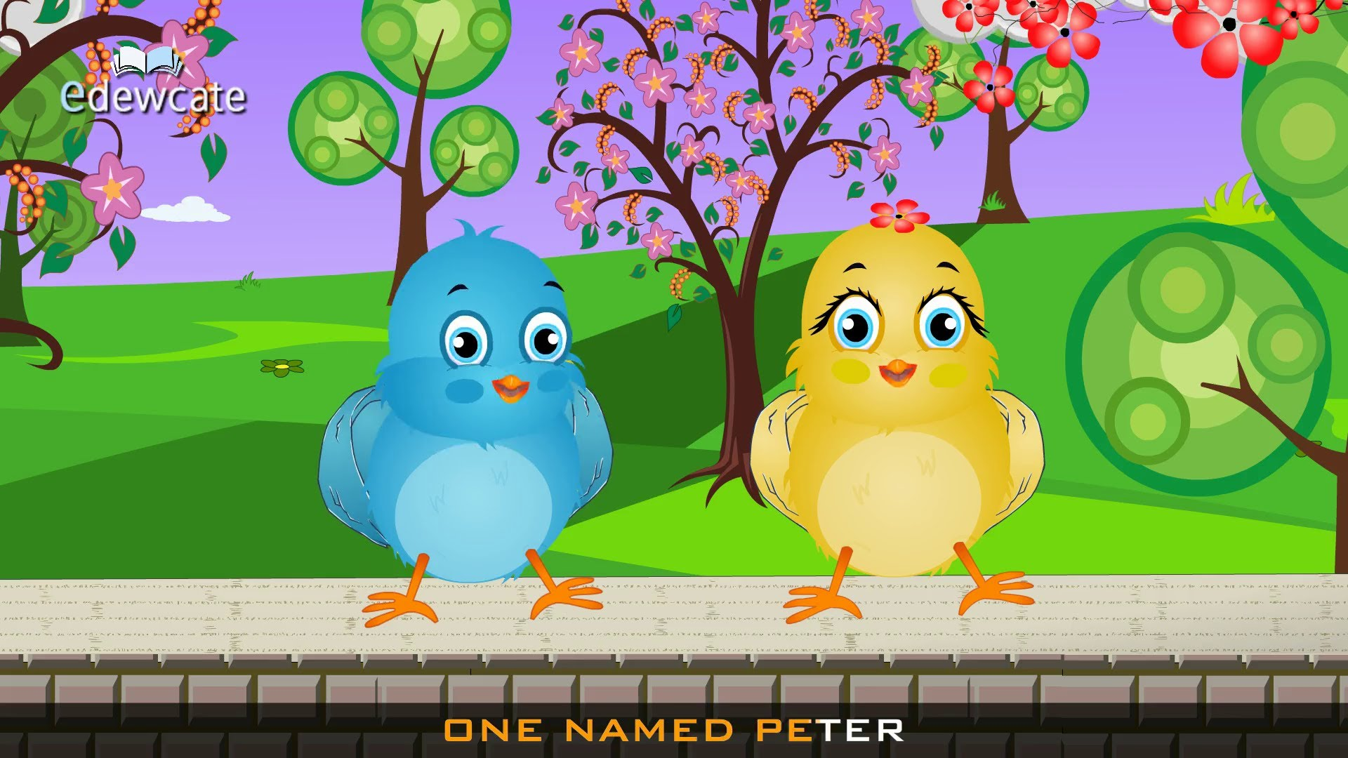 Bird clipart two little Two  english birds rhymes