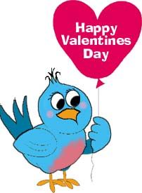 Brds clipart valentine Day Bird Valentine Animations Blue