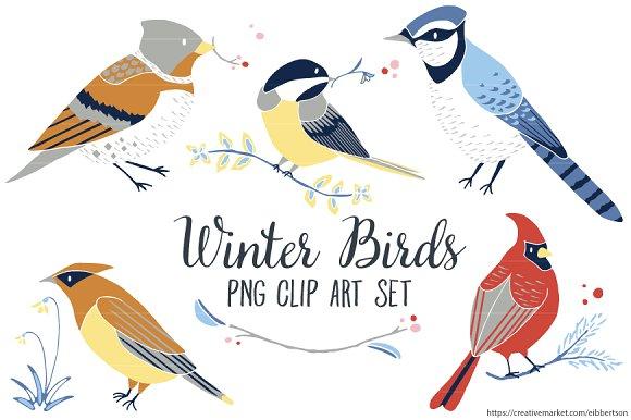 Winter clipart bird Clip Illustrations Winter Clipart Bird