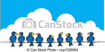 Brds clipart wire Search of wire a on