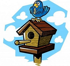 Bird House clipart animal home Bird on with top Free