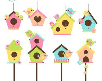 Bird House clipart Clipart set Birdhouse Birdhouses of
