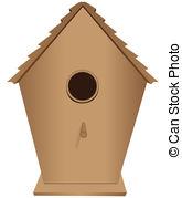 Bird House clipart For wood Clip Birdhouse Houses