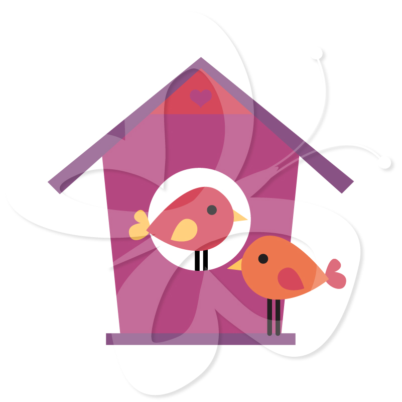 Bird House clipart birdie Birds Clipart and Set Collection