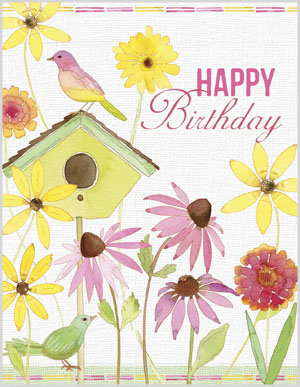 Bird House clipart birthday Birds/Birdhouse Birthday Card