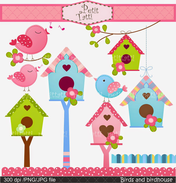 Bird House clipart birthday 6 clipart clipart SALE Birdhouse