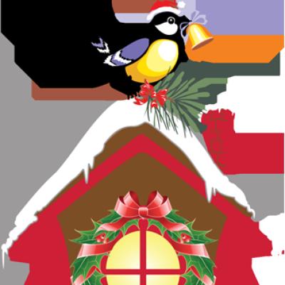 Bird House clipart christmas Clip Birdhouse art projects clipart