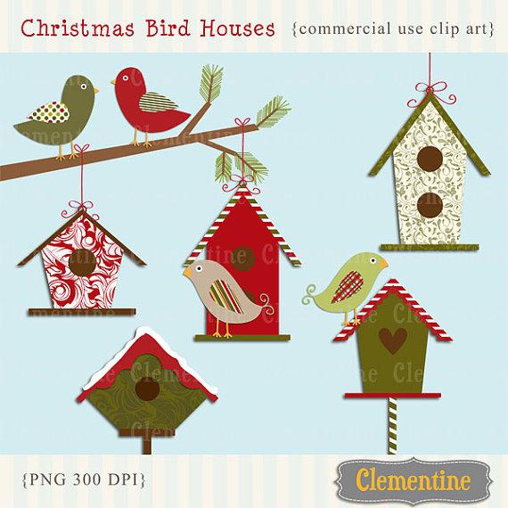 Bird House clipart christmas Bird Birdhouse Clip Clip and