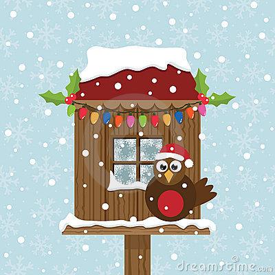 Bird House clipart christmas Art Snowy – Art Birdhouse