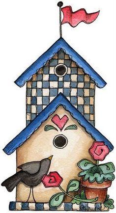 Bird House clipart cute mom BIRDHOUSES CLIPART Casa Para de