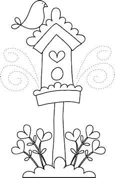 Bird House clipart cute mom On post on this applique