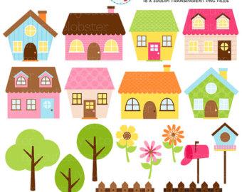 Bird House clipart fence Little Set set Etsy Clip