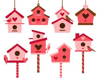 Bird House clipart scrapbook House Cupcake Art for clip