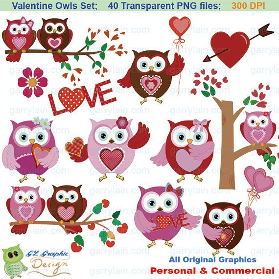 Owlet clipart reindeer Package on 40 Valentine clipart