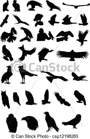 Bird Of Prey clipart silhouette Birds Silhouettes Vector prey of