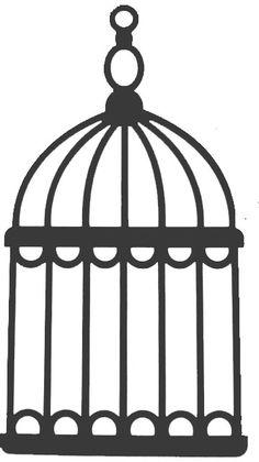 Simple clipart bird cage Jaula Clipart  BIRDCAGE Art