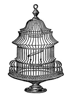 Drawn birdcage Graphics  Printables 2 Vintage